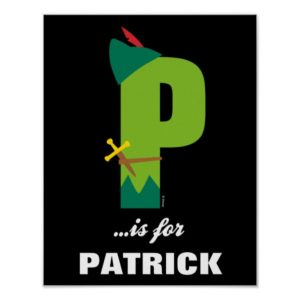 P is for Peter Pan | Add Your Name Poster