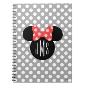 Personalized Minnie Polka Dot Head Silhouette Notebook