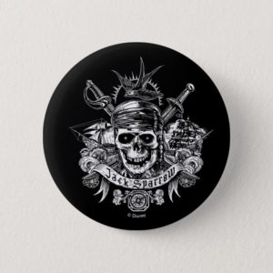 Pirates of the Caribbean 5   Jack Sparrow Skull Button