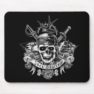 Pirates of the Caribbean 5 | Jack Sparrow Skull Mouse Pad