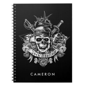 Pirates of the Caribbean 5   Jack Sparrow Skull Notebook