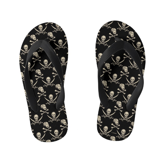 1c99bd5fee3aa Pirates of the Caribbean 5 | Rogue - Pattern Kid's Flip Flops