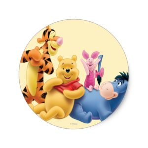 Pooh & Friends 10 Classic Round Sticker