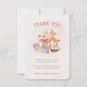 Pooh & Friends Watercolor |  Birthday Thank You