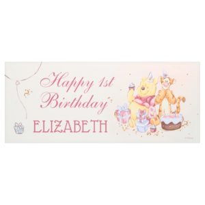 Pooh & Friends Watercolor | First Birthday Banner