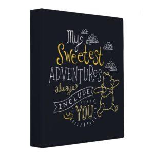 Pooh   My Sweetest Adventures 3 Ring Binder