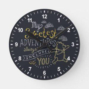 Pooh | My Sweetest Adventures Round Clock