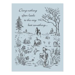 Pooh & Pals | The Very Best Something Quote Postcard