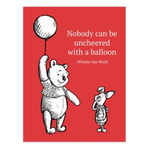 Pooh & Piglet | Nobody Can Be Uncheered Postcard