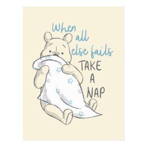 Pooh | Take a Nap Quote Postcard