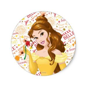 Princess Belle Classic Round Sticker