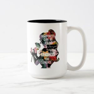 Princess | Belle Floral Silhouette Two-Tone Coffee Mug