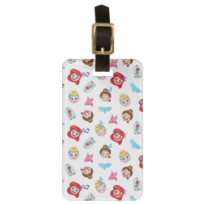 Princess Emoji Pattern Bag Tag