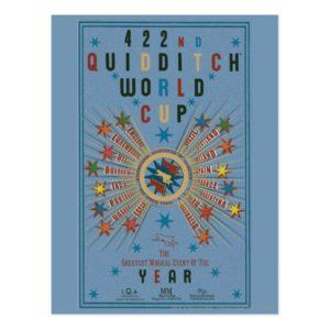 QUIDDITCH™ World Cup Blue Poster Postcard