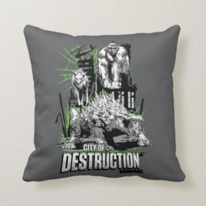 RAMPAGE | City of Destruction Throw Pillow