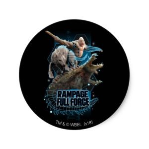 RAMPAGE | FULL FORCE CLASSIC ROUND STICKER