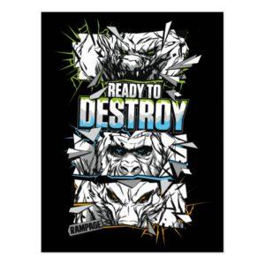 RAMPAGE | Ready to Destroy Postcard