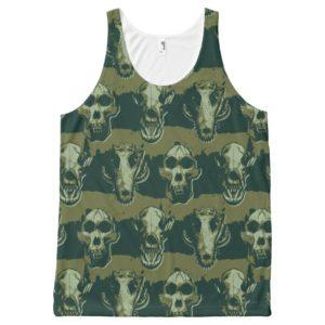 RAMPAGE | Skulls Pattern All-Over-Print Tank Top