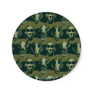 RAMPAGE | Skulls Pattern Classic Round Sticker