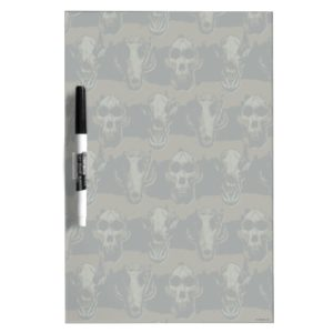 RAMPAGE   Skulls Pattern Dry Erase Board