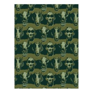 RAMPAGE | Skulls Pattern Postcard