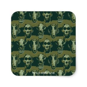 RAMPAGE   Skulls Pattern Square Sticker