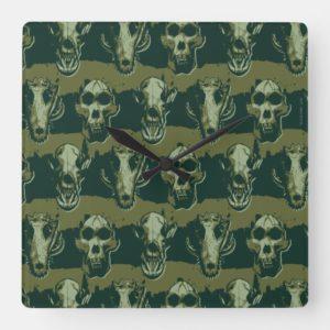 RAMPAGE | Skulls Pattern Square Wall Clock