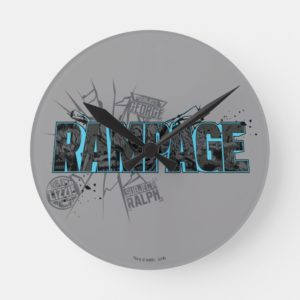 RAMPAGE | Subject Graphics Round Clock
