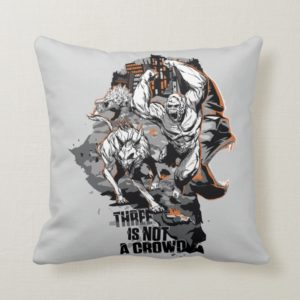 RAMPAGE | Three is Not a Crowd Throw Pillow