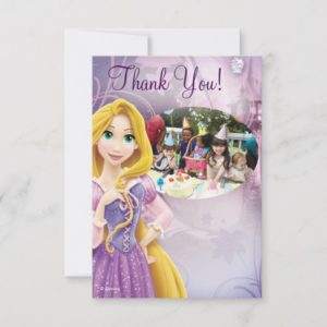 Rapunzel Birthday Thank You Cards