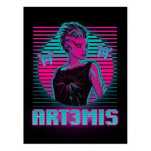 Ready Player One | Art3mis Graphic Postcard