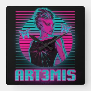 Ready Player One | Art3mis Graphic Square Wall Clock