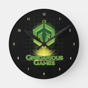 Ready Player One | Gregarious Games Logo Round Clock