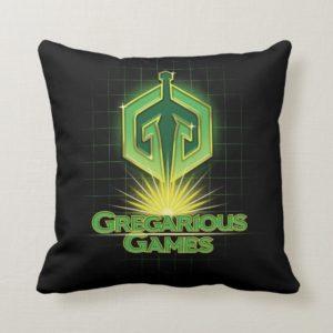 Ready Player One   Gregarious Games Logo Throw Pillow