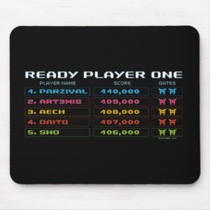 Ready Player One | High Score Leaderboard Mouse Pad