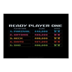 Ready Player One | High Score Leaderboard Poster
