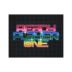 Ready Player One   Rainbow Logo Canvas Print