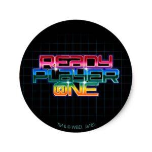 Ready Player One | Rainbow Logo Classic Round Sticker