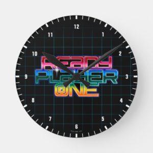 Ready Player One | Rainbow Logo Round Clock