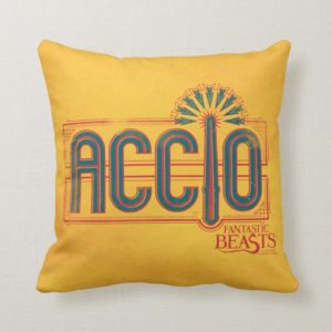 Red Art Deco ACCIO™ Spell Graphic Throw Pillow