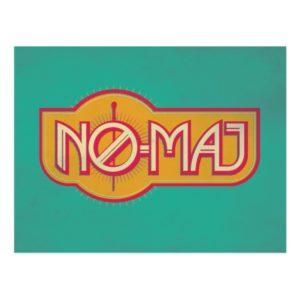 Red & Yellow NO-MAJ™ Badge Postcard