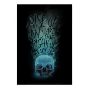 """""""Rise Up"""" Skull & Smoke Graphic Poster"""