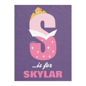 S is for Sleeping Beauty | Add Your Name Fleece Blanket