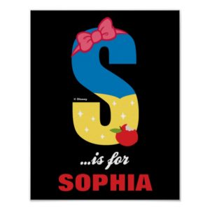 S is for Snow White | Add Your Name Poster