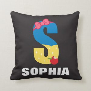 S is for Snow White | Add Your Name Throw Pillow