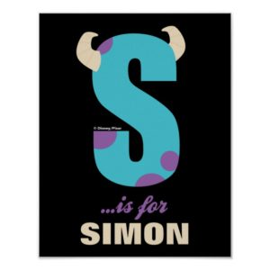 S is for Sulley   Add Your Name Poster