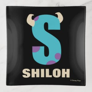 S is for Sulley | Add Your Name Trinket Trays