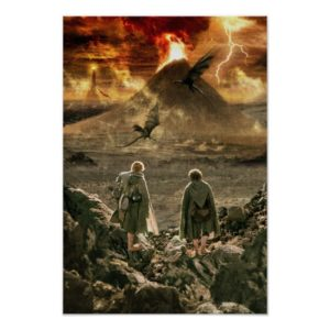 Sam and FRODO™ Approaching Mount Doom Poster