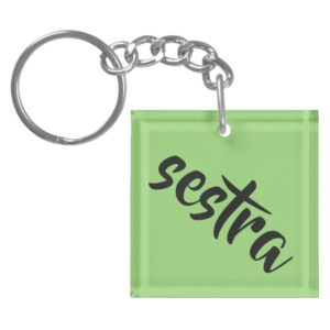 sestra from tv show Orphan black calligraphy Keychain