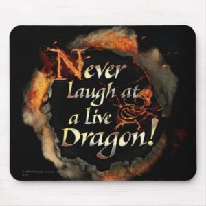 SMAUG™ - Never Laugh Logo Graphic Mouse Pad